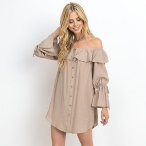 Dresses - Dusty Pink Romantic Mini  Dress
